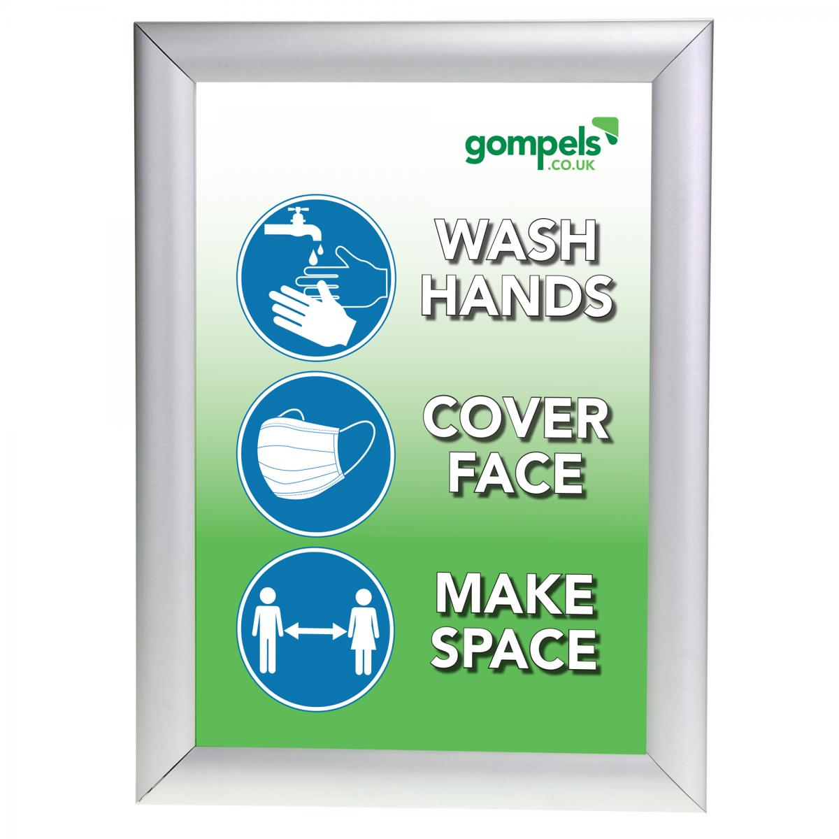 free printable a4 hands face space sign