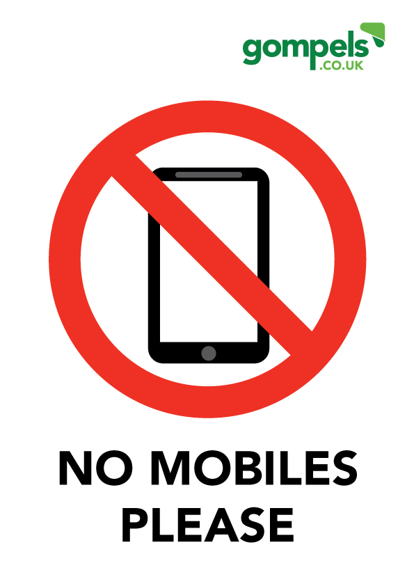 no mobiles please sign