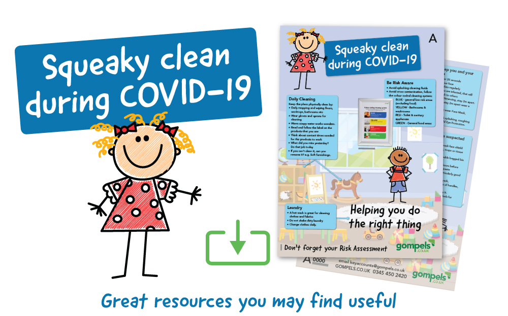 Download our Squeaky Clean During COVID-19 flyer!