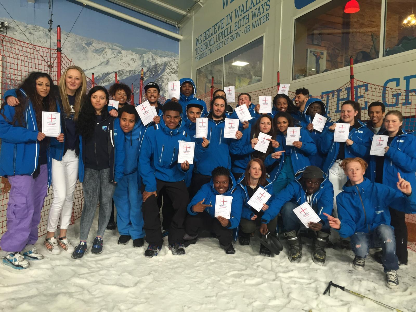 Snow Camp helps young people to gain industry recognised qualifications