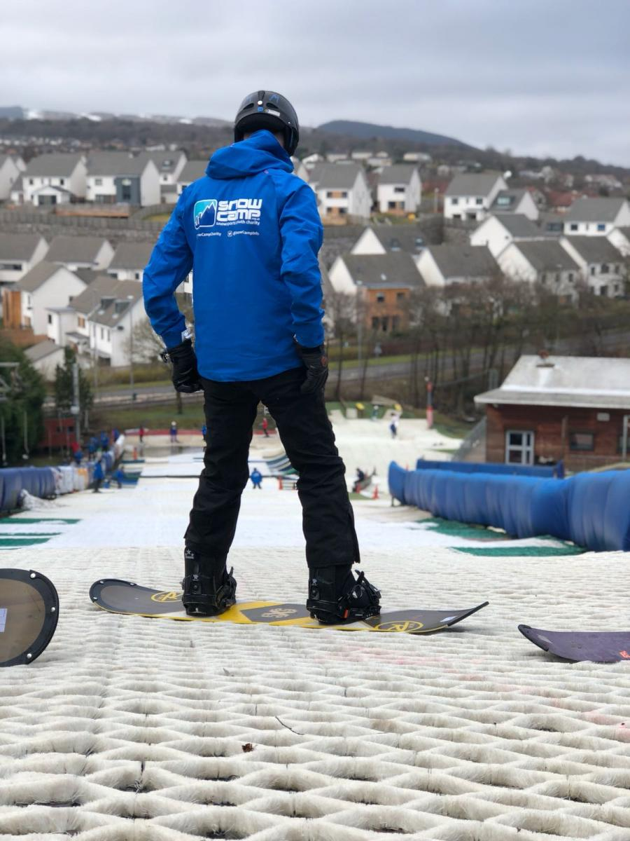 Learning new skills such as snow-boarding helps these young people to gain confidence