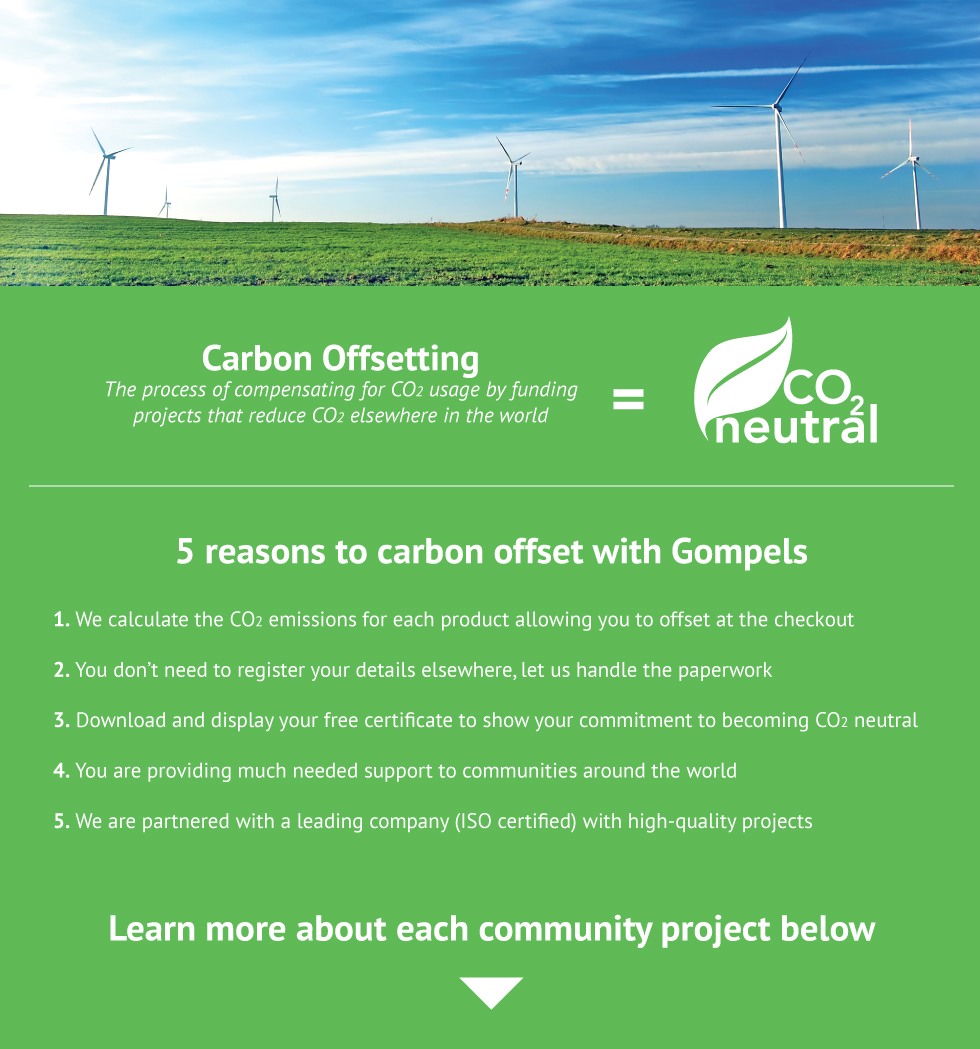 Carbon offsetting is the process of compensating for co2 usage by funding projects that reduce co2 elsewhere in the world