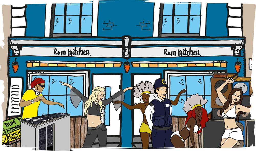 The Rum Kitchen - Illustration - Location - Notting Hill Scene