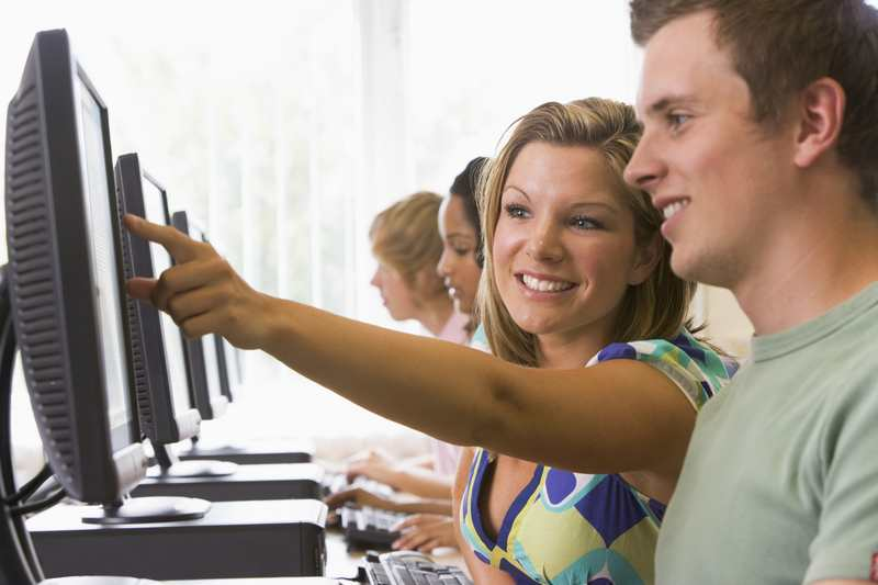 Students work through a course - at a membership site