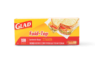 Glad Fold Top Sandwich Bags