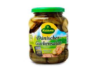 Kuhne Cucumber Salad Danish-Sliced Gherkins