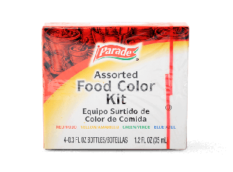 Parade Assorted Food Color Kit