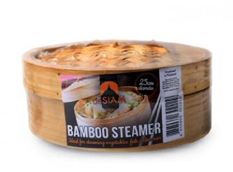 deSIAM Bamboo Steamer 10'+Lid