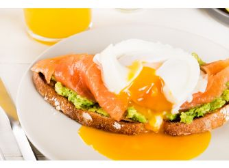 Gourmet's Salmon & Avocado Eggs Benedict
