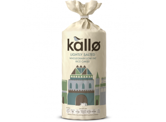 Kallo Lightly Salted Wholegrain Low Fat Rice Cakes