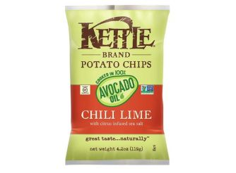 Kettle Brand Potato Chips Chili Lime Cooked in 100% Avocado Oil