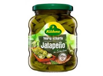 Kuhne Fiery Hot Jalapeno Pepper Slices