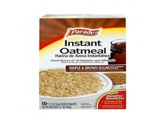 Parade Maple and Brown Sugar Instant Oatmeal