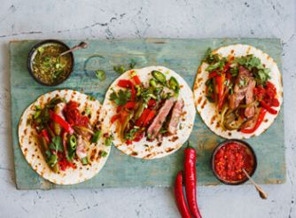 Mexican Sirloin Steak Fajitas