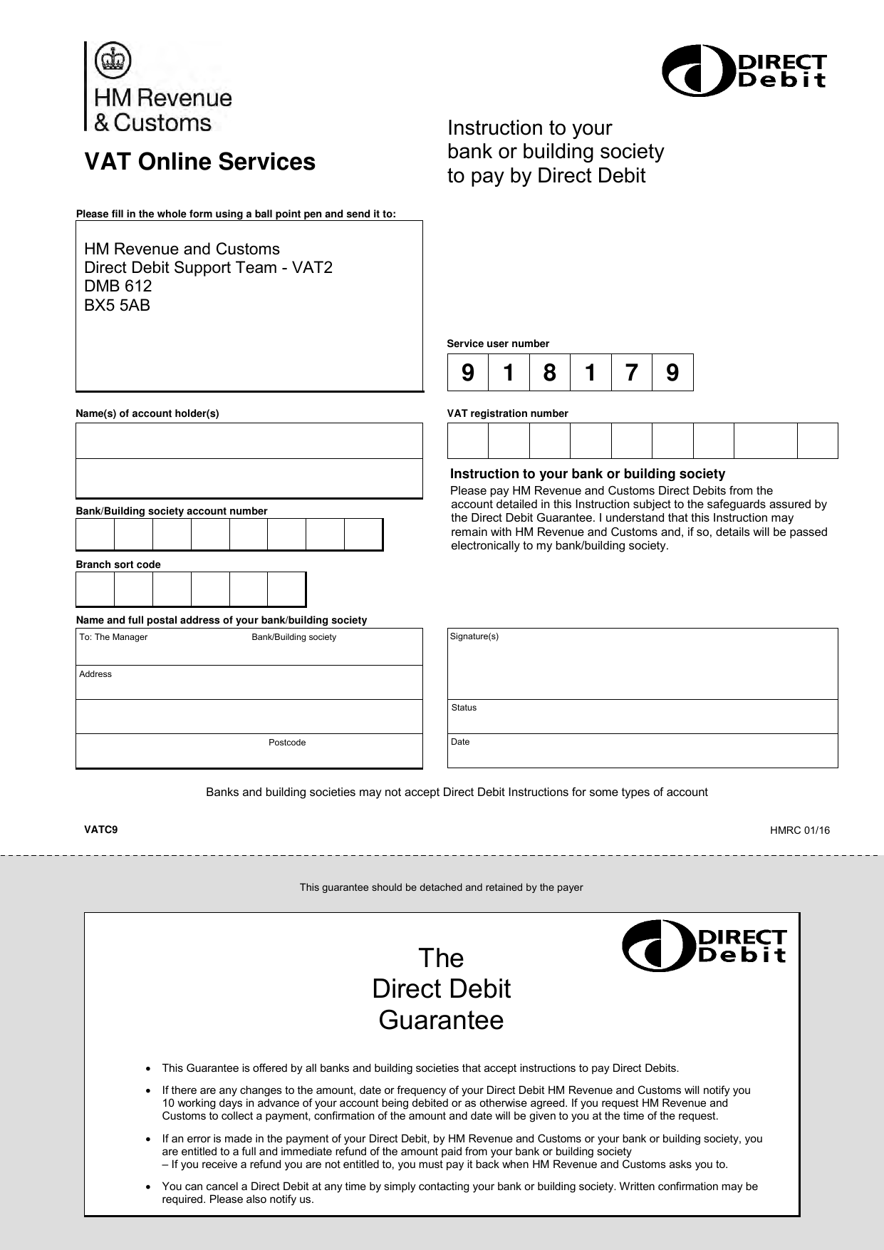 Form explorer – Direct Debit Form