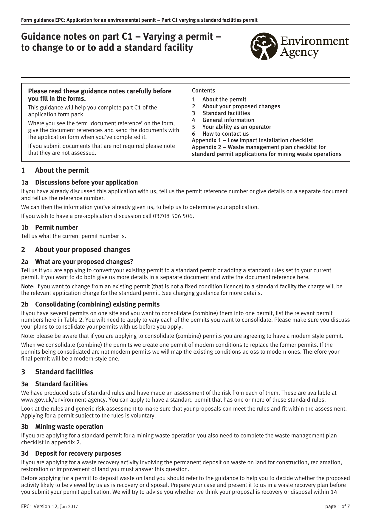Form explorer attachment form guidance epc application for an environmental permit part c1 varying a standard facilities permit falaconquin