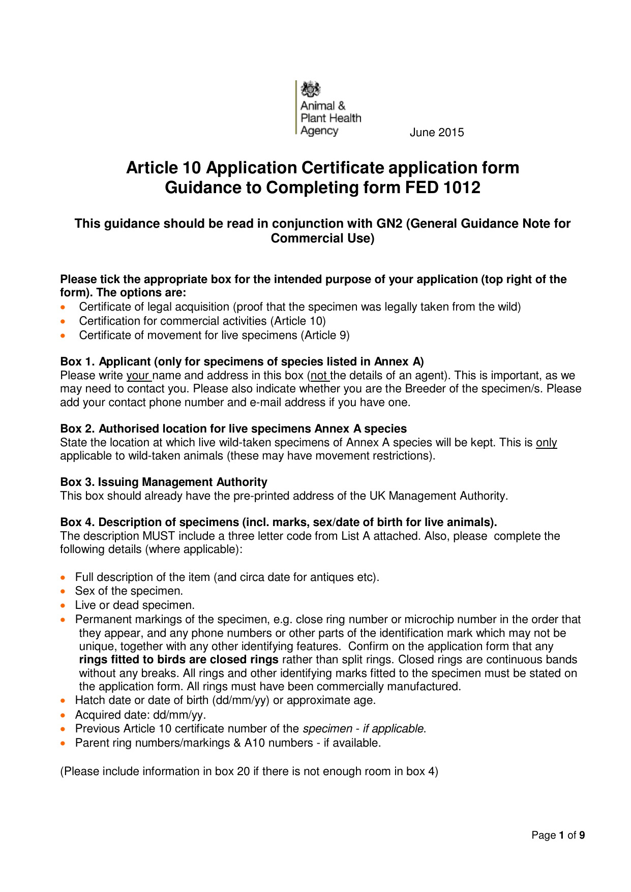 Form explorer attachment article 10 certificate application form guidance to completing form fed1012 aiddatafo Image collections