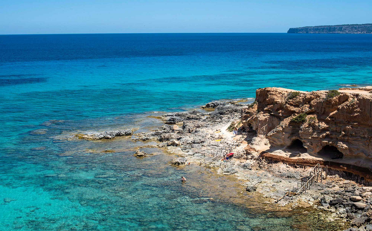 Formentera - Cala de Baster en la zona norte de la isla