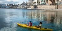 Ceuta - Playa de Ribera para iniciar el paseo en Kayak