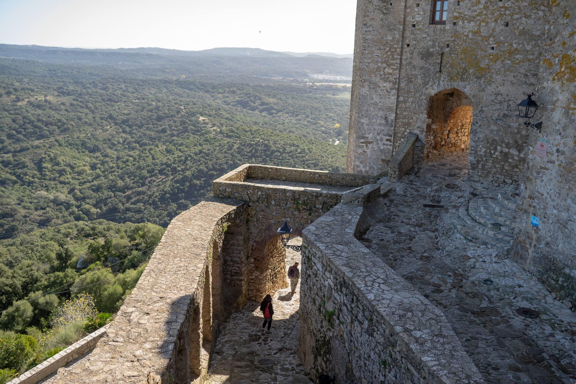 La vista es abrumadora desde cualquier parte de la fortaleza.
