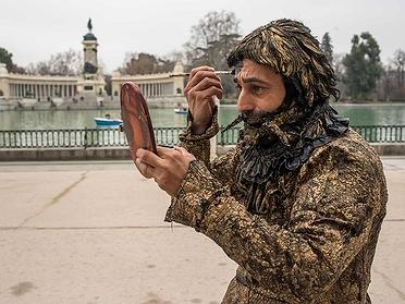 Los artistas del Parque del Retiro de Madrid