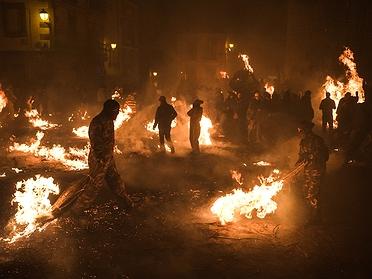 Fiesta de Los Escobazos en Jarandilla de la Vera (Cáceres)