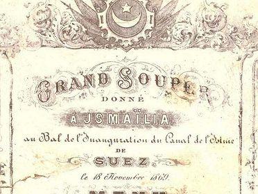 Menú con historia: la cena que ofreció Eugenia de Montijo en el Canal de Suez (1869)
