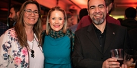 Fiesta Pre Gala Soles (San Sebastián) - Teresa Gutierrez de Azafrán con su marido