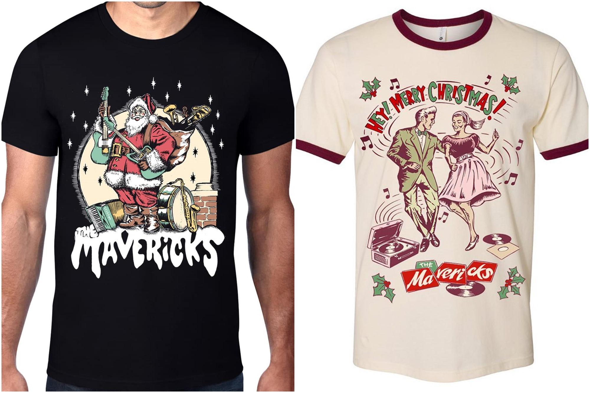 La banda de Miami tiene incluso modelos de camisetas para sus aficionados más acérrimos en estas fechas. Foto: Facebook The Mavericks.