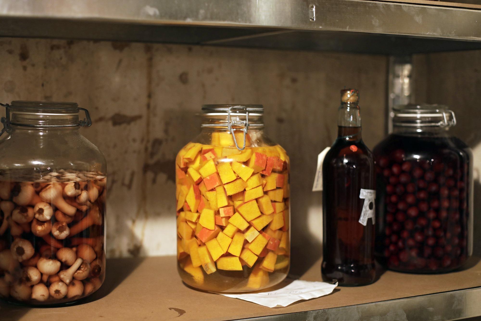 Las conservas, una constante en la cocina tradicional de montaña.