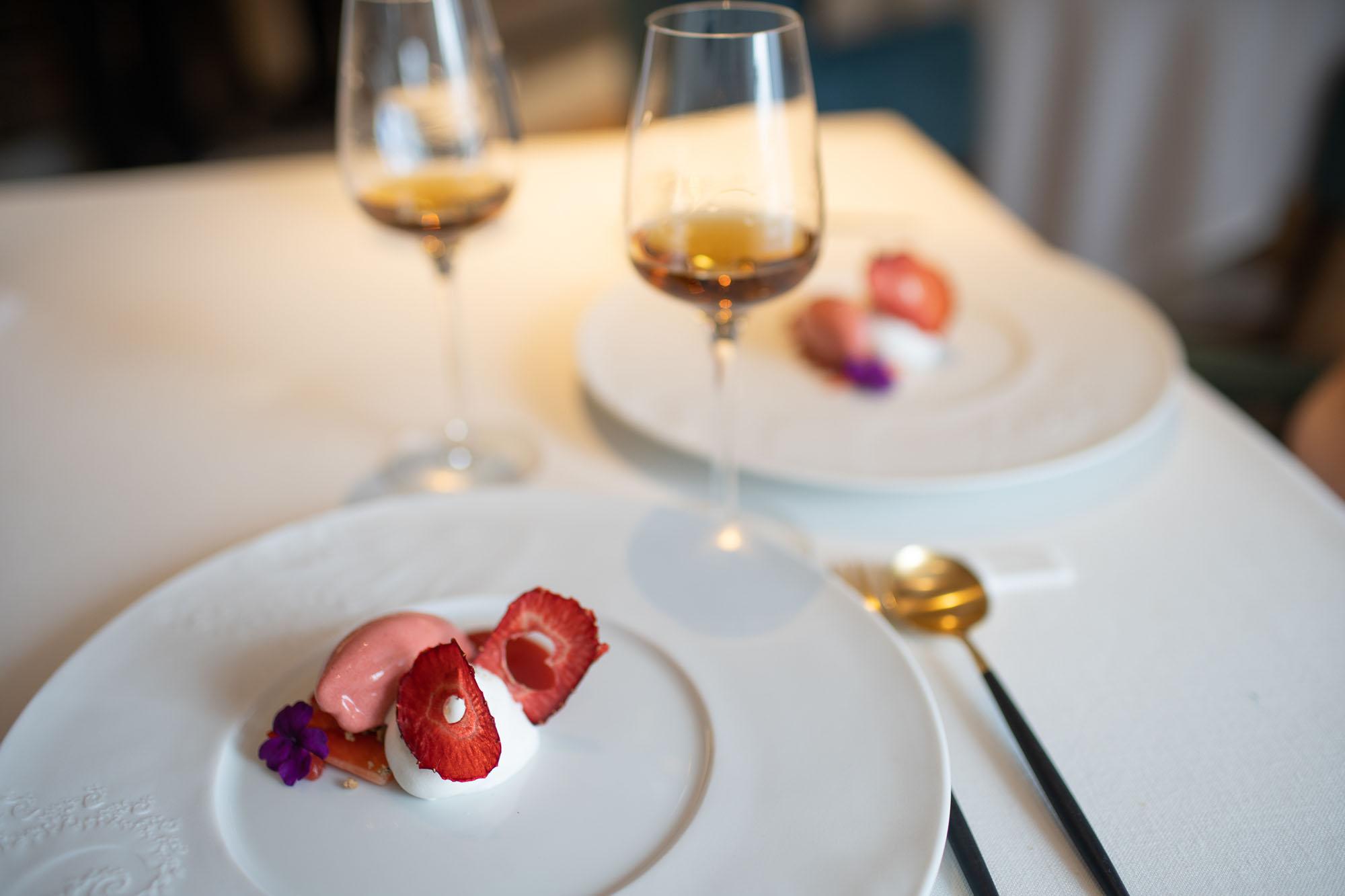 Fresas con chantilly.
