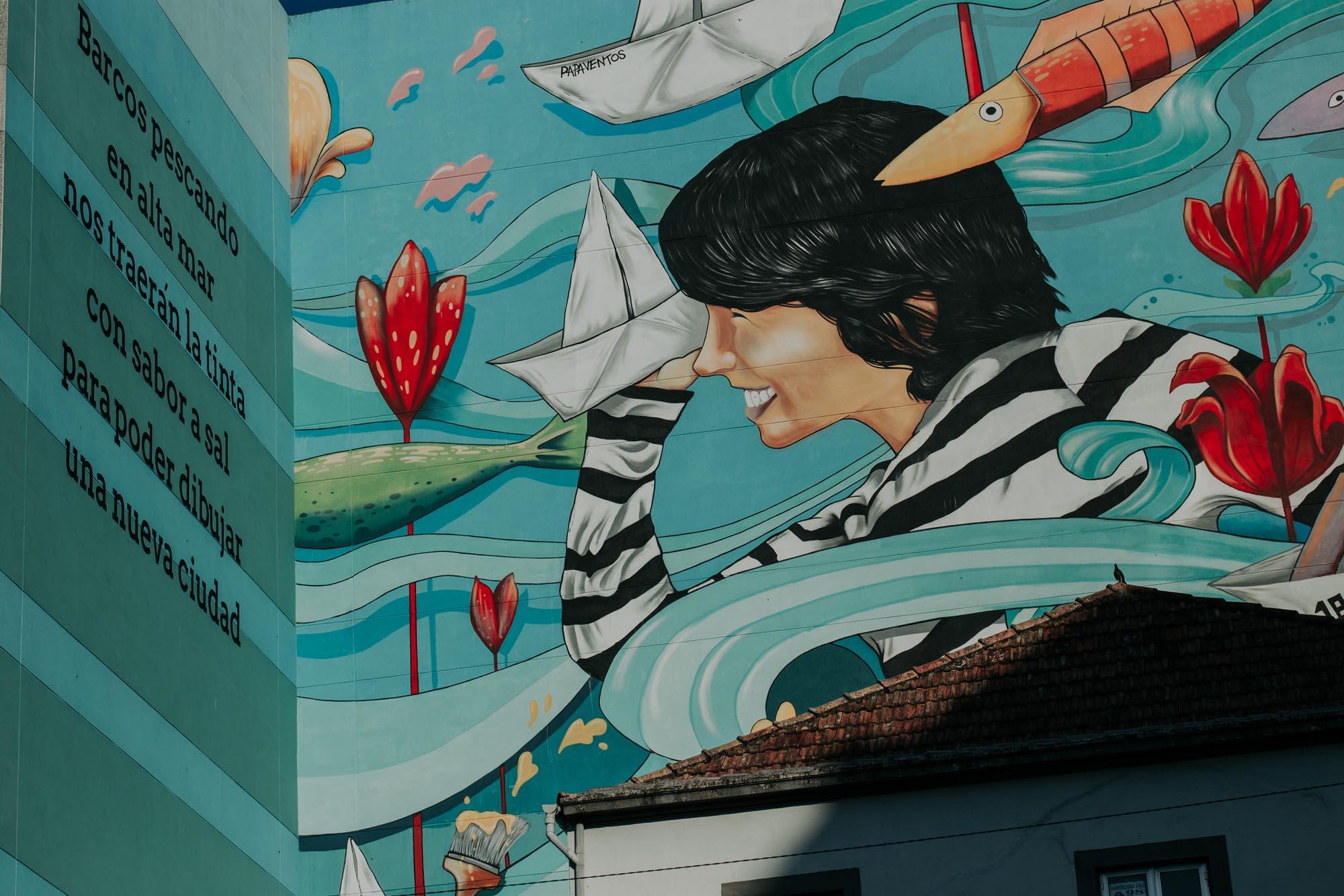 En la calle Gregorio Espino se expone este mural del Proyecto Ewa.