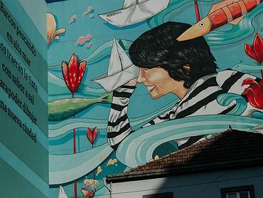 Arte urbano en Vigo: la ruta de gafitis de los murales