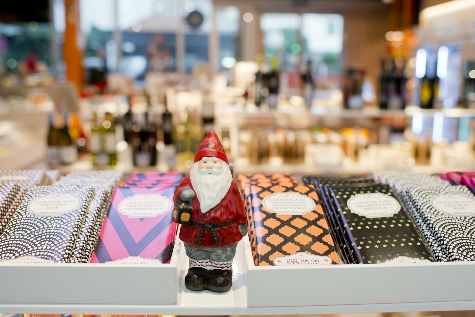 Para regalo o para amenizar el largo viaje en coche, el surtido de dulces es muy completo en Navidad.