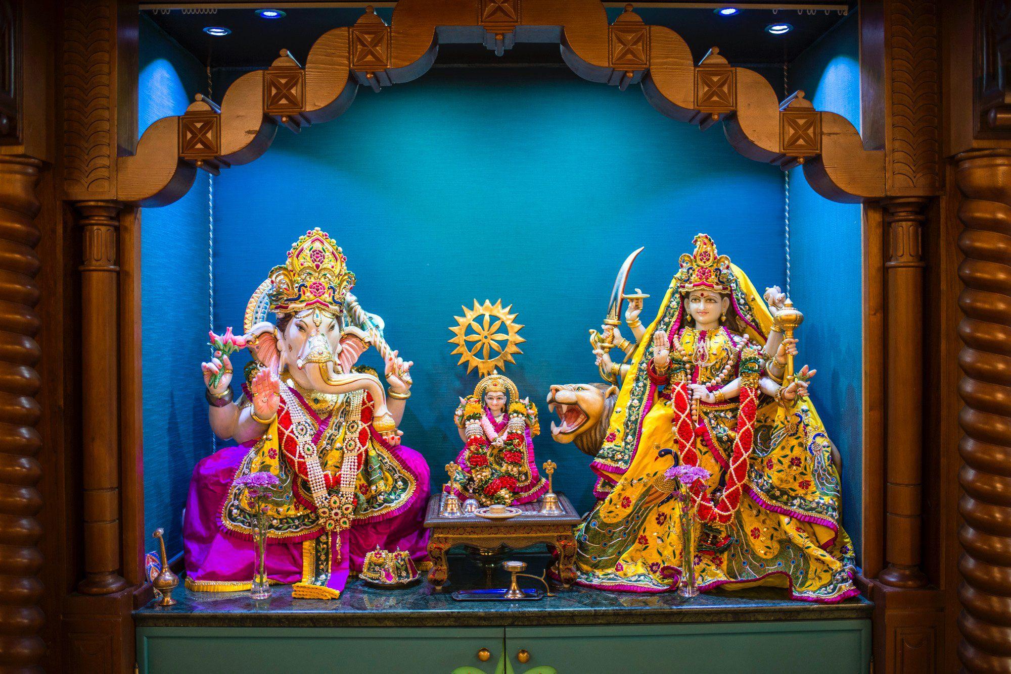 Ceuta: deidades del templo hindú
