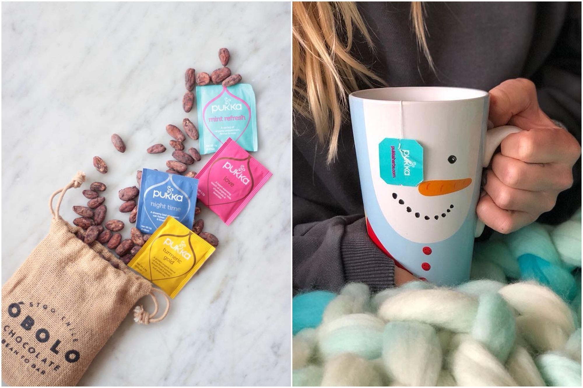 Ya no solo las tazas, también el envoltorio de las infusiones tiene un diseño incluso temático. Foto: Facebook Pukka.