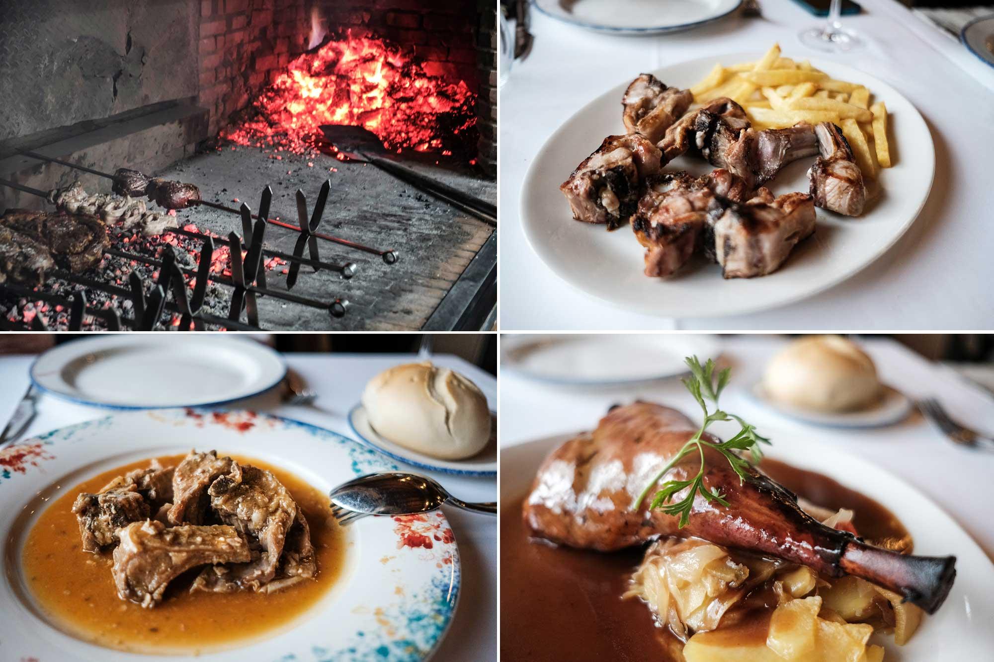 En el restaurante 'Mirasierra' se sirven cuatro platos diferentes de cabrito lechal.