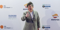 Photocall Gala Soles Guía Repsol - Marian Reguera de 'Taberna Verdejo'