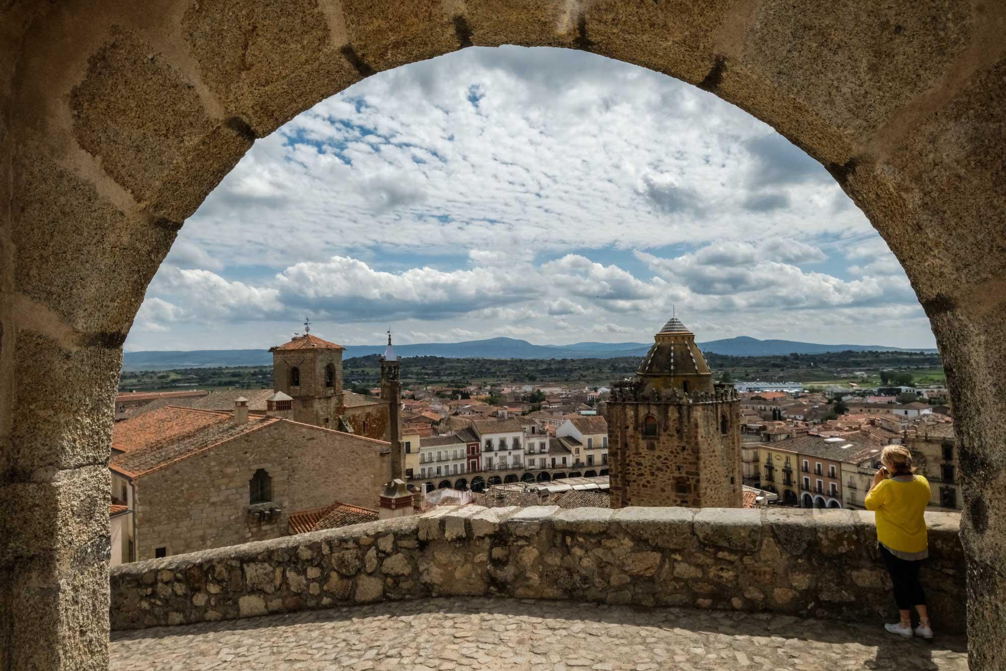 Vistas desde la zona amurallada de Trujillo, Cáceres.