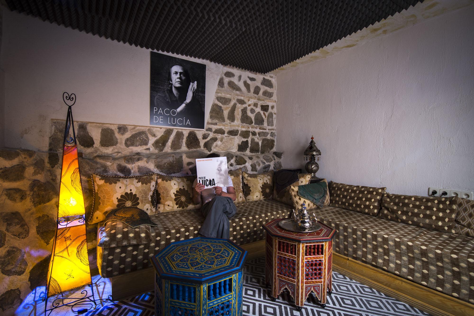 El lugar más especial del hotel es el estudio de grabación, donde Paco de Lucía grabó 'Cositas Buenas'.