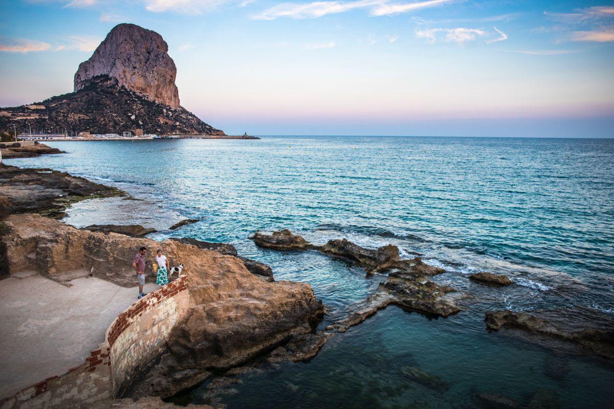 El mar y la sal fueron el sustento de los antiguos colonos romanos en Calpe. Foto: Eva Máñez.