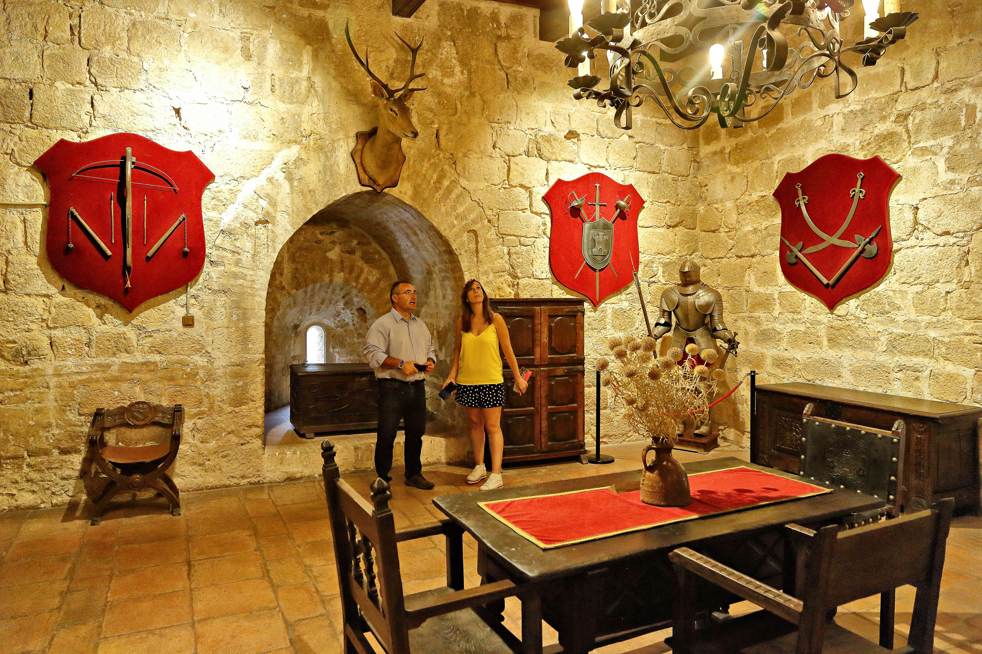 La Torre del Homenaje es en la actualidad un museo de piezas históricas.