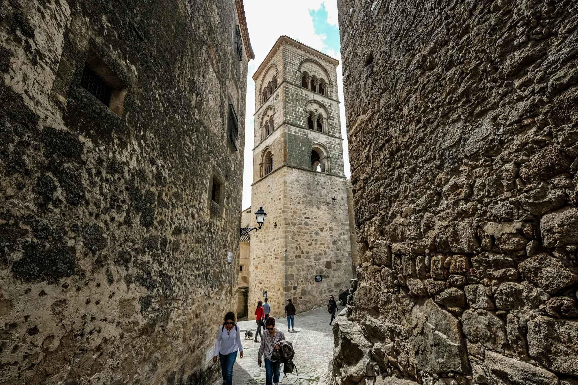 Torre de la Iglesia Santa María la Mayor, en Trujillo.