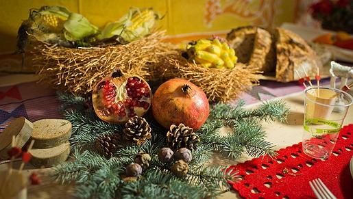 Una mesa de 'usar y tirar' para Navidad