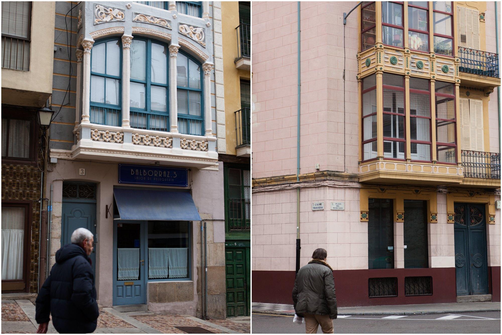 La casa de Faustina Leirado en la calle Balborraz contrasta con las casas de la calle Traviesa.