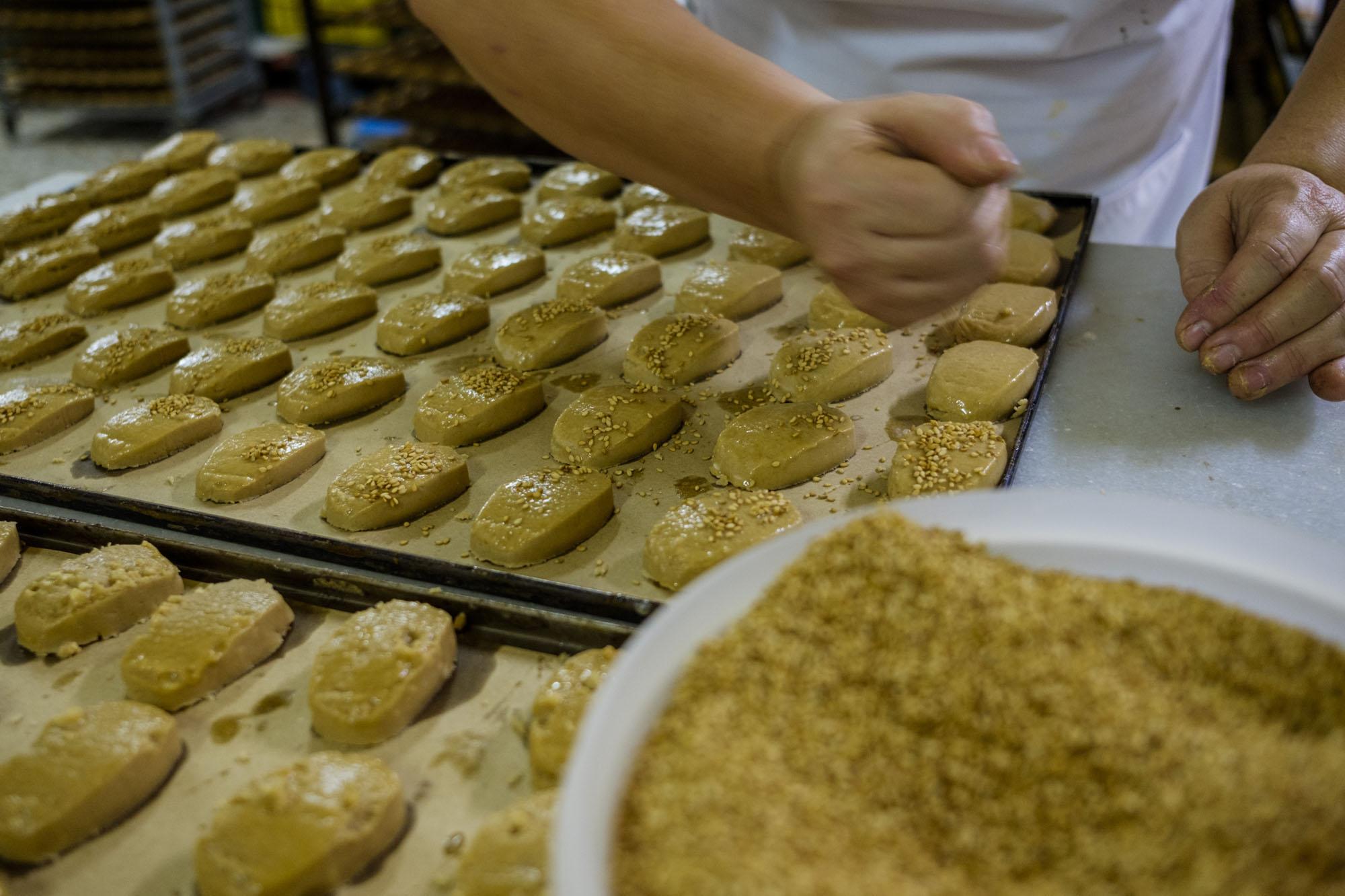 Todo el proceso de los mantecados es artesanal