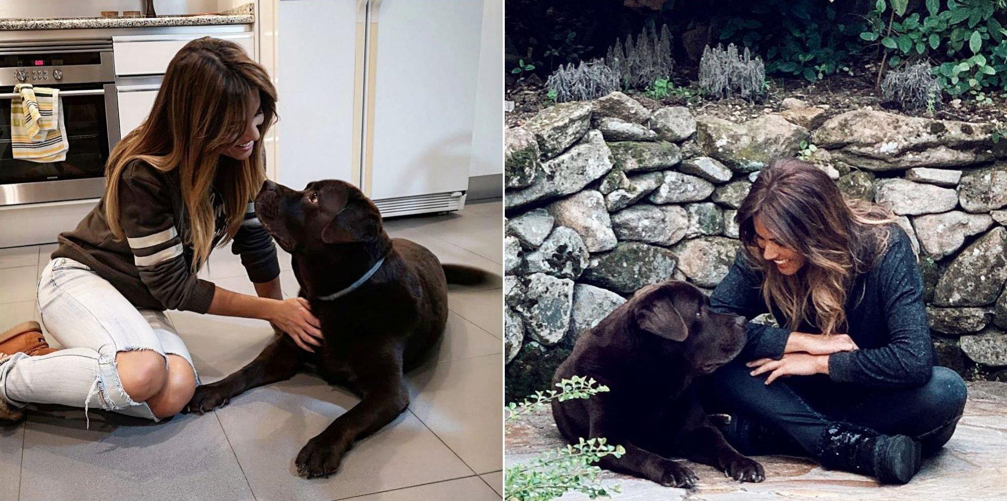 Lara Álvarez con su perro