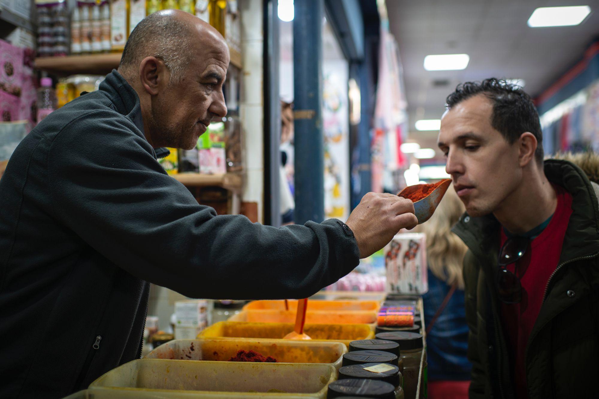 Ceuta musulmana: puesto de especias 'Musa' en el Mercado Central