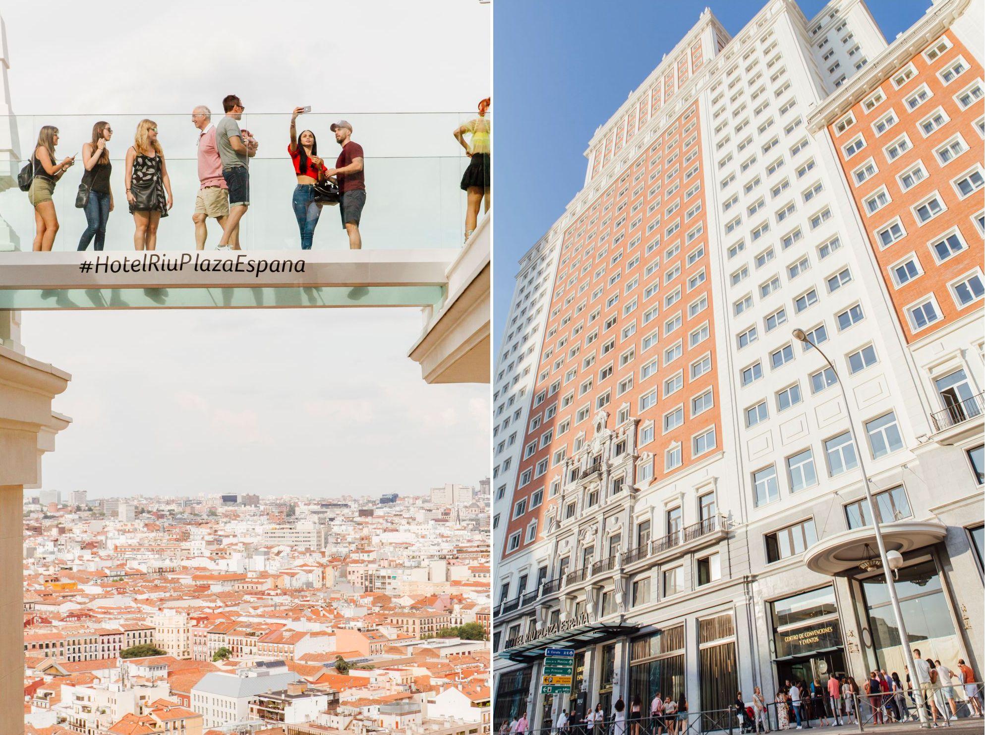 Terraza Panorámica Del Hotel Riu Plaza España Madrid