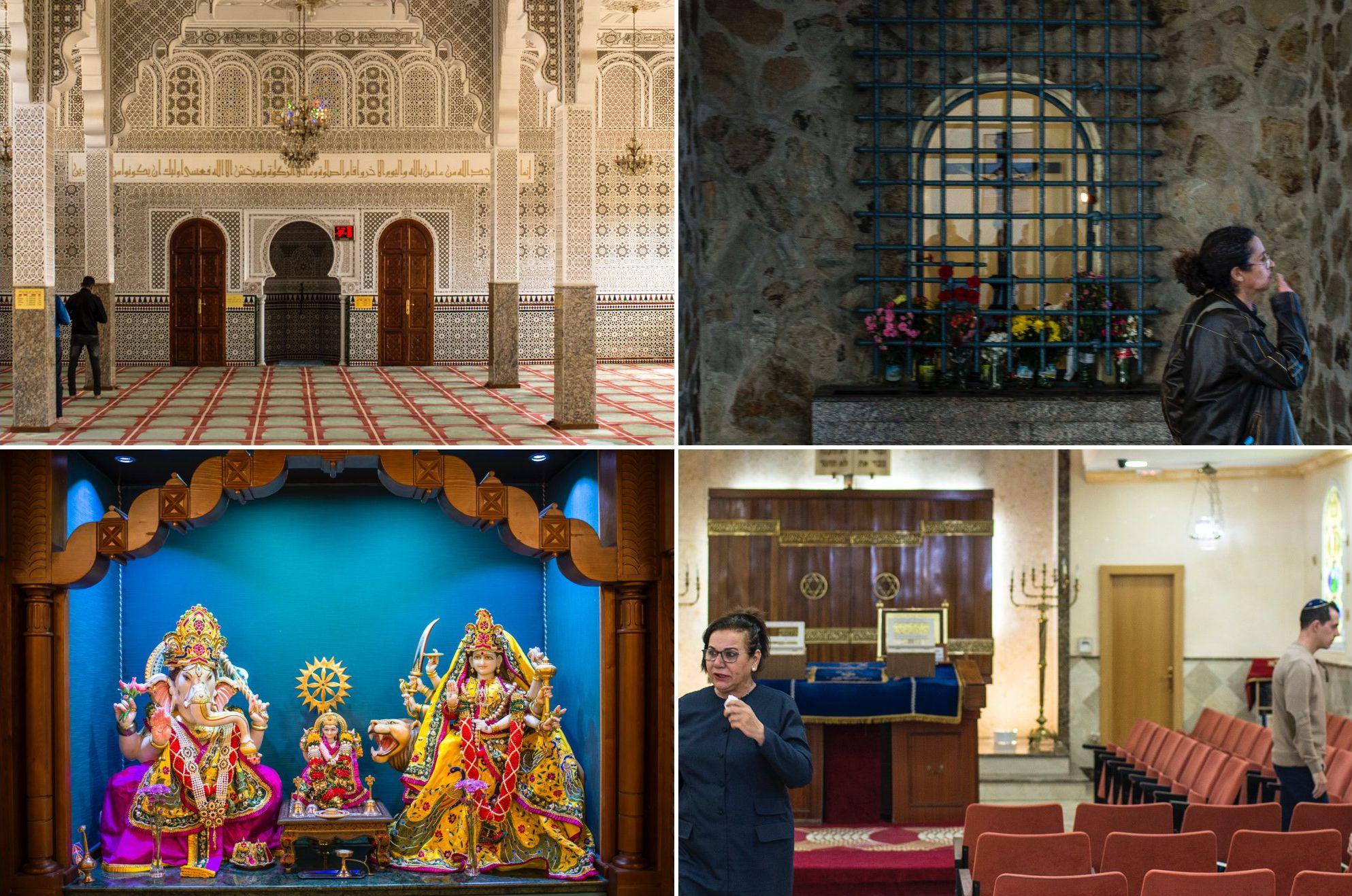 Las 4 religiones de Ceuta: musulmana, cristiana, hindú y hebrea